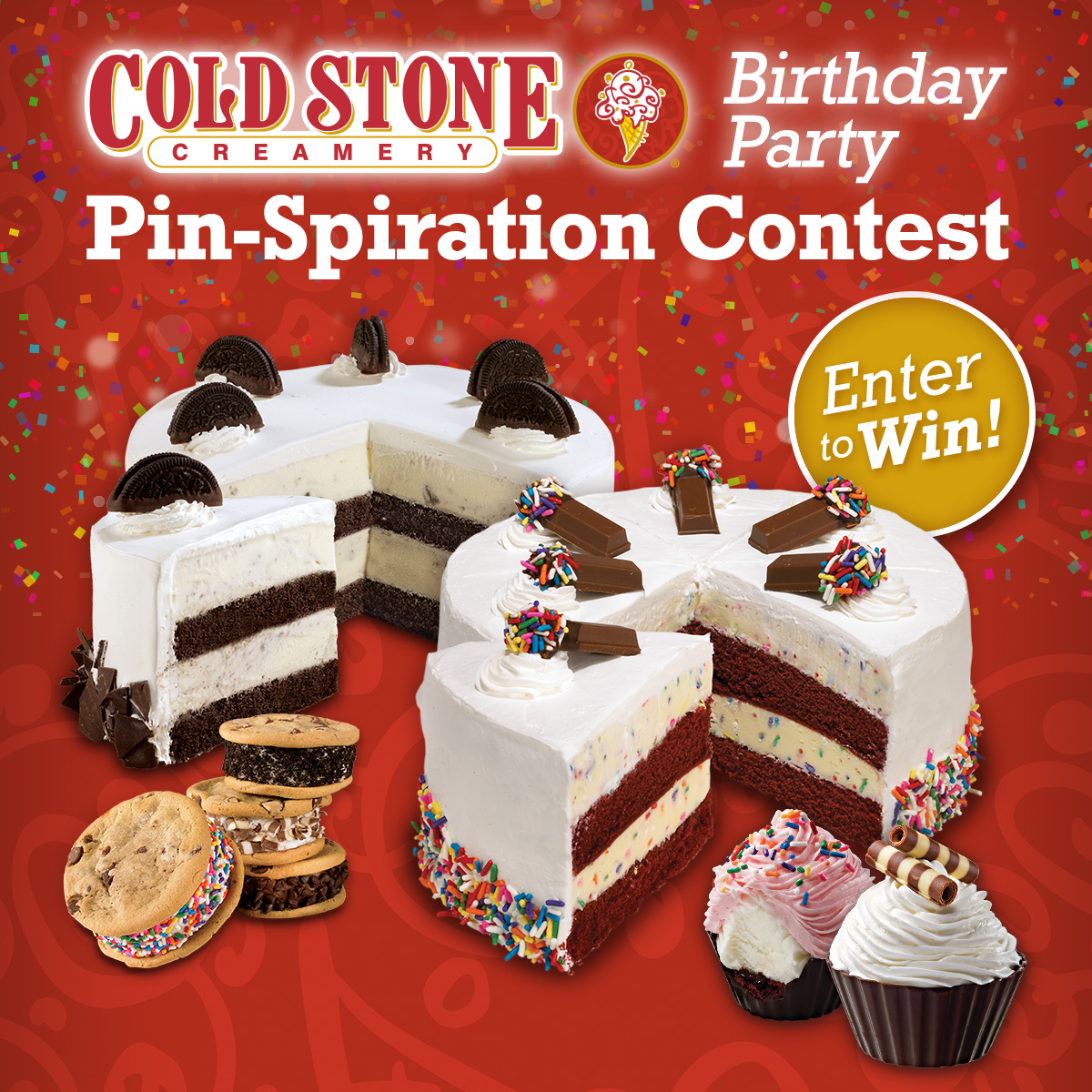 Cold Stone Creamery Birthday Party Pin Spiration Contest