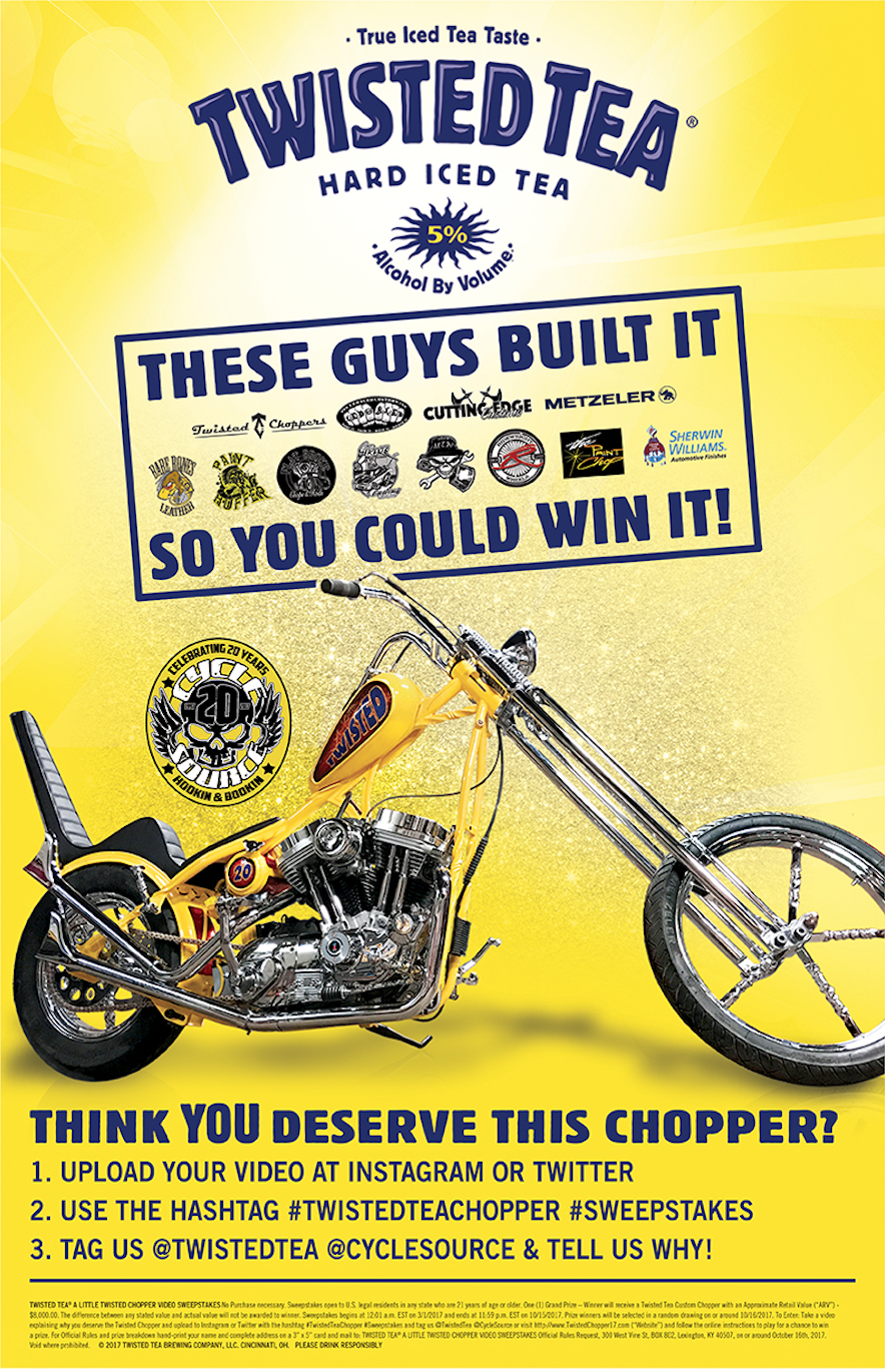 Twisted Tea - A Little Twisted Chopper Video Sweepstakes