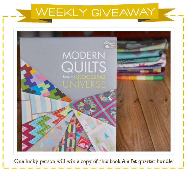 Modern Quilts Book & Fat Quarter Bundle Giveaway