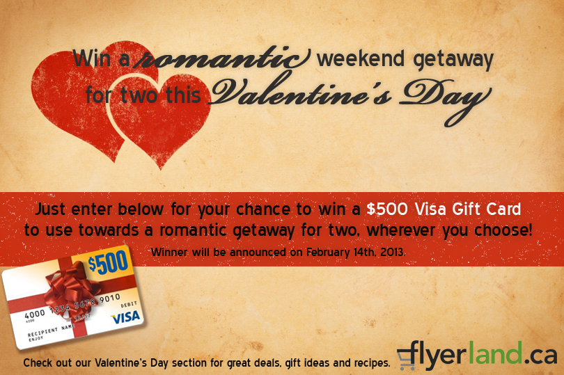 Win a weekend getaway this Valentine's Day
