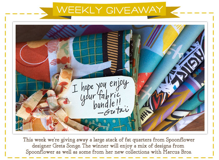 Greta Songe Fat Quarter Giveaway