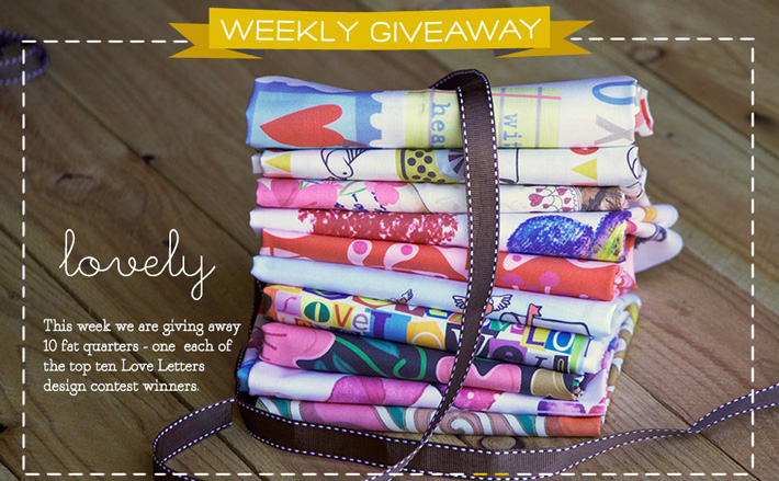 Love Letter Fat Quarter Bundle Giveaway