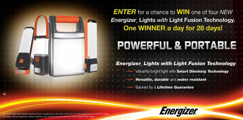 Energizer Fusion Sweepstakes