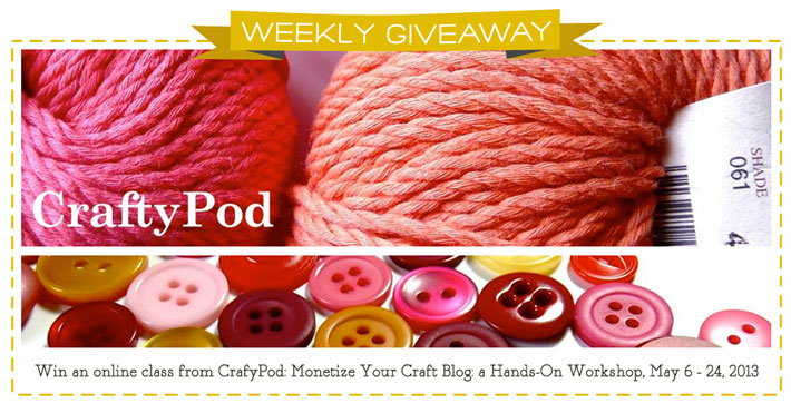 Monetize Your Craft Blog Class Giveaway