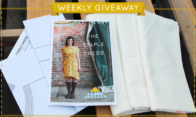 Win April Rhodes' Staple Dress Pattern + Custom Fabric