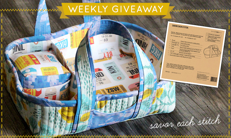 Win Carolyn Friedlander's Social Tote Pattern + Custom Fabric