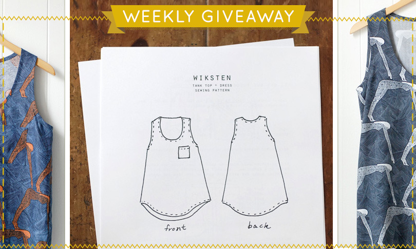 Win a Wiksten Tank Pattern + Custom Printed Fabric!