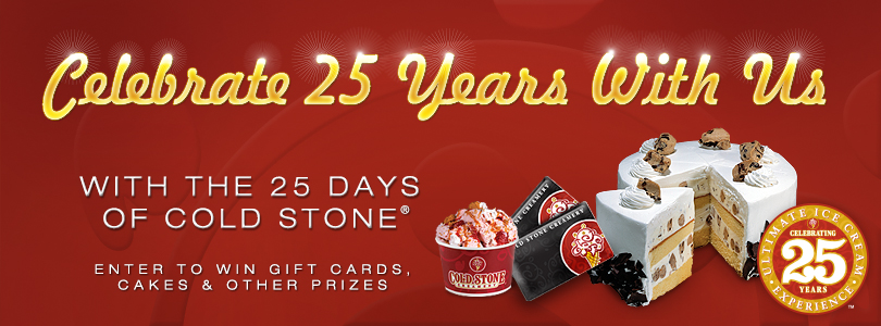 25 Days of Cold Stone