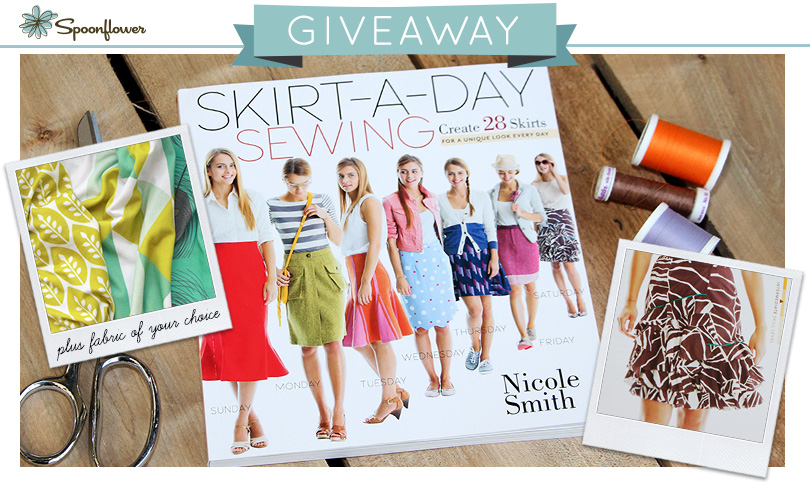 Win a Copy of Skirt-A-Day Sewing + Custom Fabric!