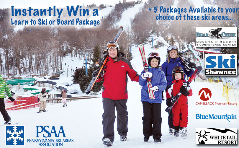 SkiPA Instant Win Learn to Ski/Board Contest