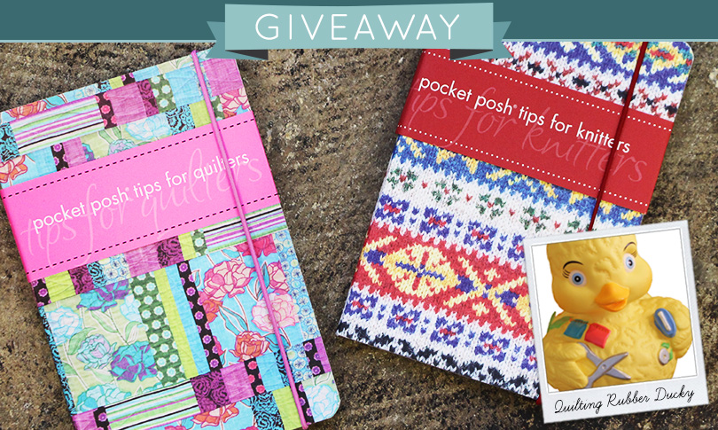 Win 2 Craft Books + a Quilting Rubber Duckie!