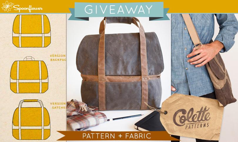 Win a Colette Cooper Bag Pattern + Custom Fabric!