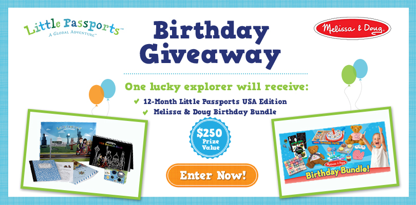 Little Passports Birthday Giveaway: Week 2