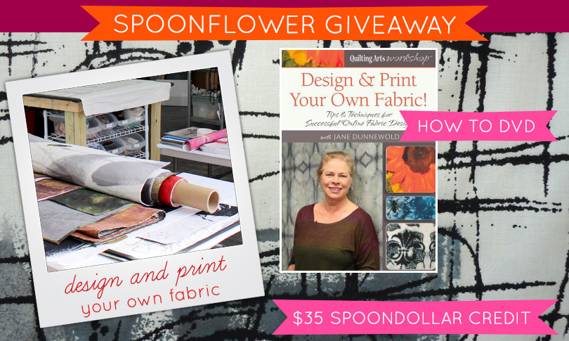 Win Jane Dunnewold's Fabric Design DVD + $35 Spoonflower credit