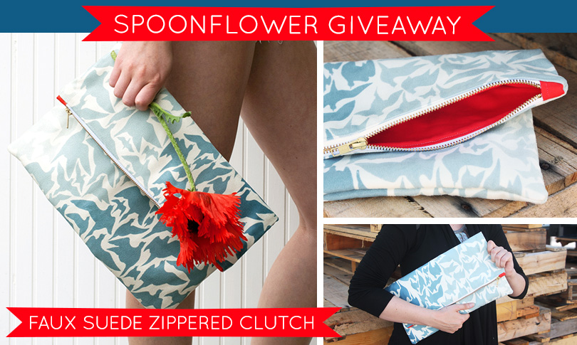 Win a Faux Suede Clutch from Yours, Olive!