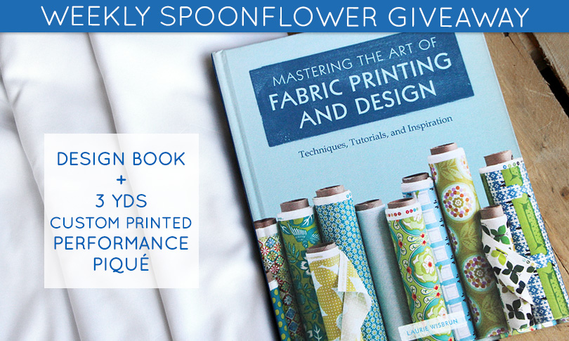 Win a Fabric Design Book + 3 Yards of Performance Piqué
