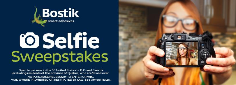 Bostik Selfie Sweepstakes