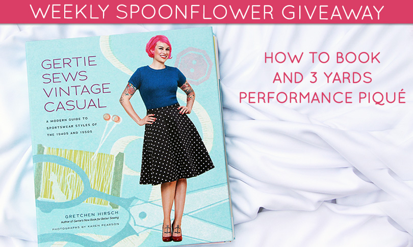 Win a Sewing Book + Performance Piqué!