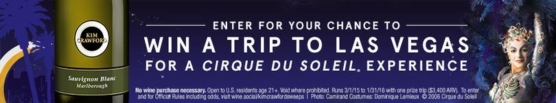 Win a Trip to Las Vegas for a VIP Cirque du Soleil Experience!