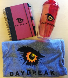 Daybreak Celebration: New Logo Gear!